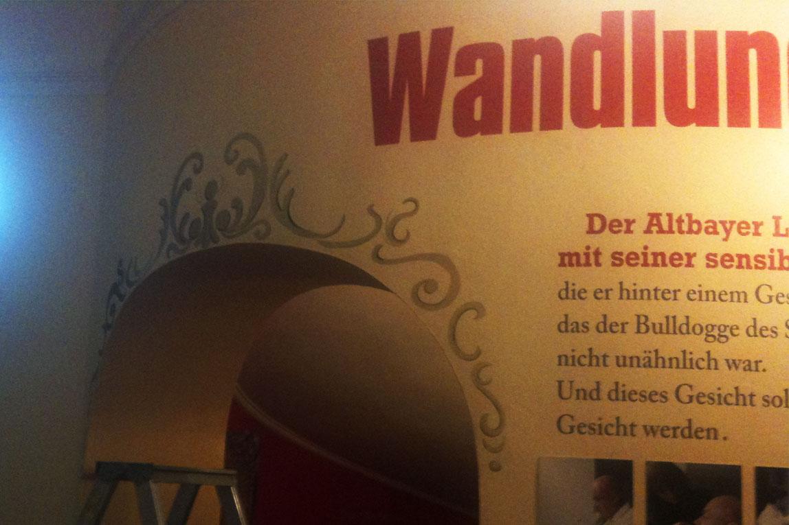 Wandgestaltung - Wandtattoos - Kropp-fahrlässig für Werbung In München